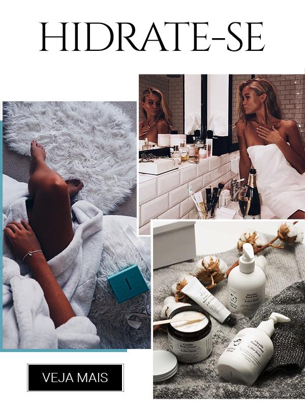 Montagem de imagens inspirações para skin care.