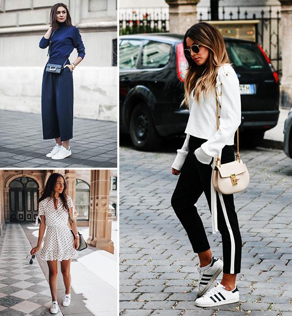 Imagem inspiração de looks com tênis casual.
