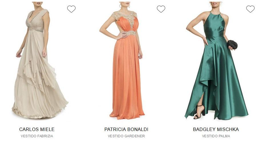 Modelos de Vestidos de Festa para Aluguel. Loja Dress&Go