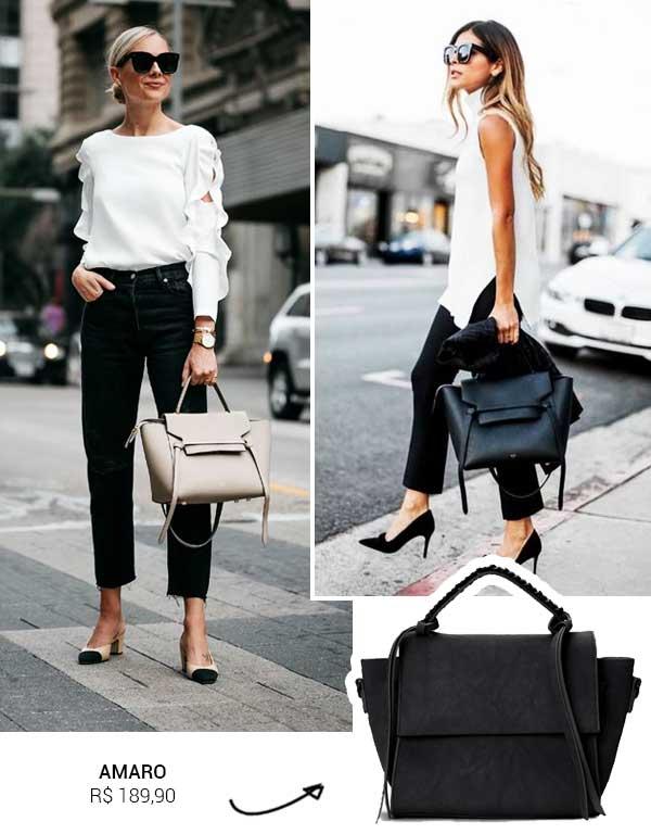 Imagem inspiração com a bolsa feminina.