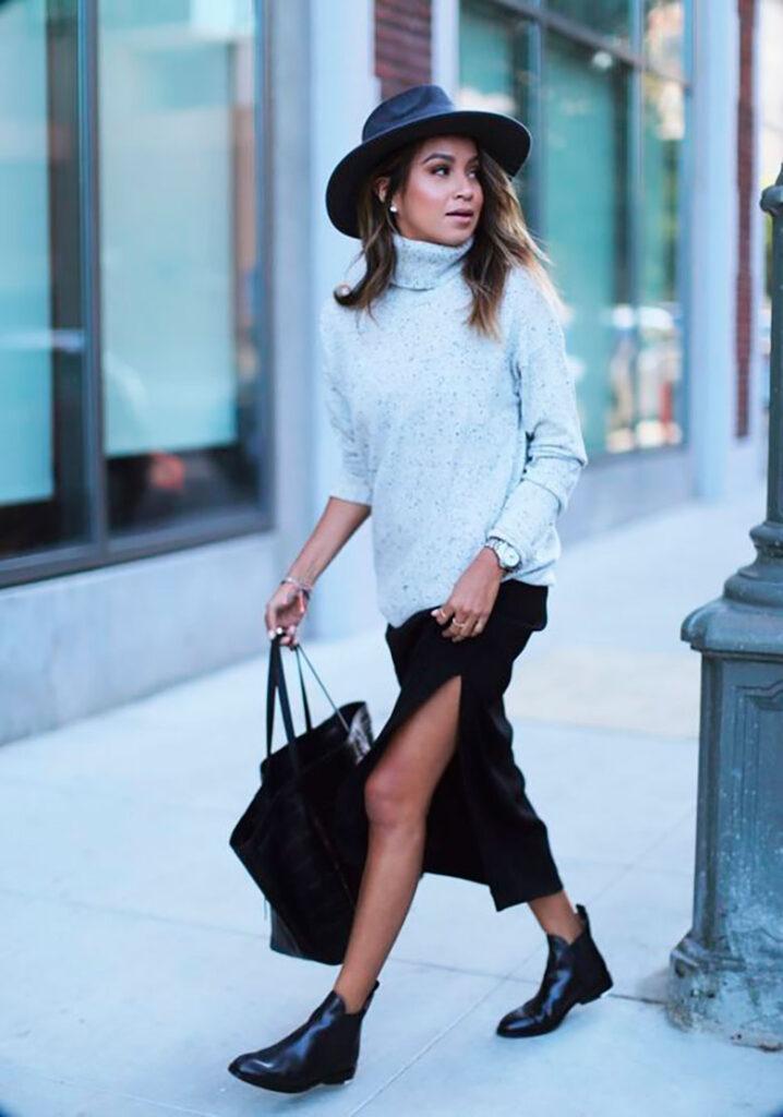 Look inspiração bota rasteira feminina.
