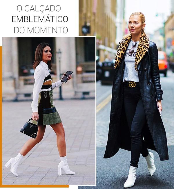 Montagem inspiração looks com bota branca.
