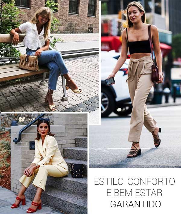 Imagem inspiração com as sandálias da moda 2019.