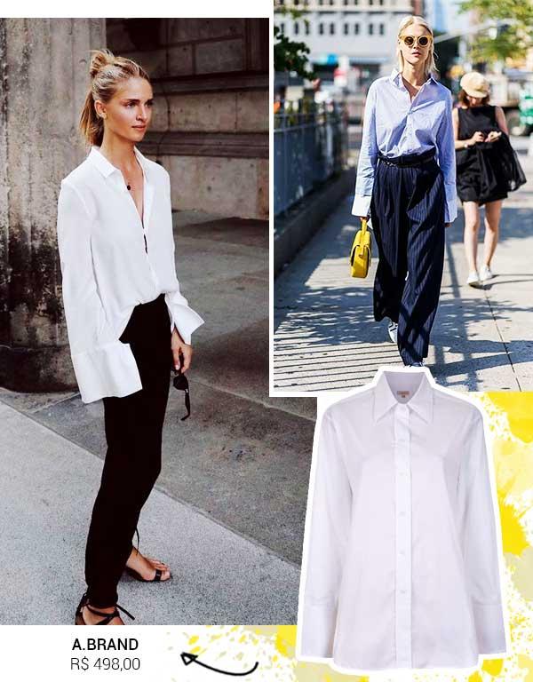 Imagem inspiração de looks com a camisa oversized.