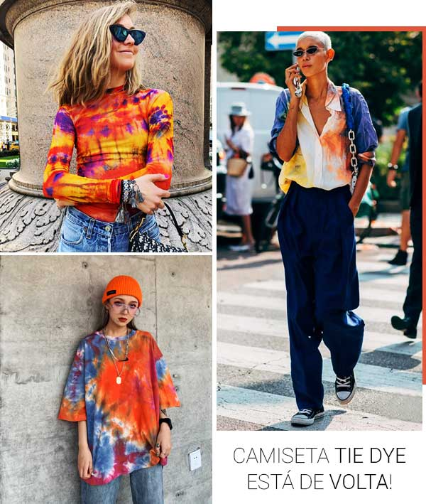 Look inspiração com a camiseta tir-dye!