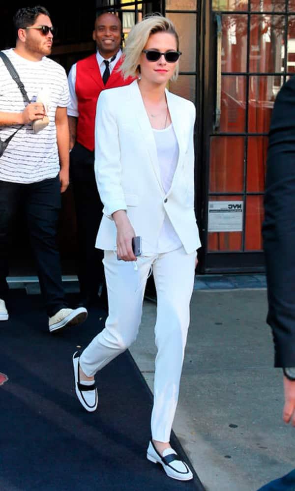 Look inspiração com o macassim branco.