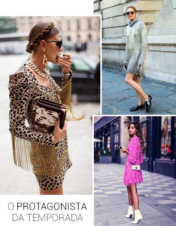 Imagem inspiração de looks com o vestido de franja.