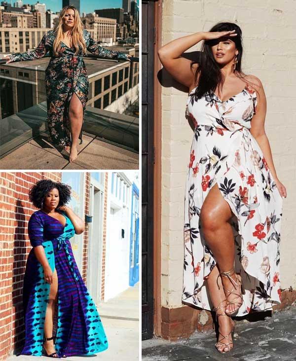 Montagem inspiração com vestido plus size.