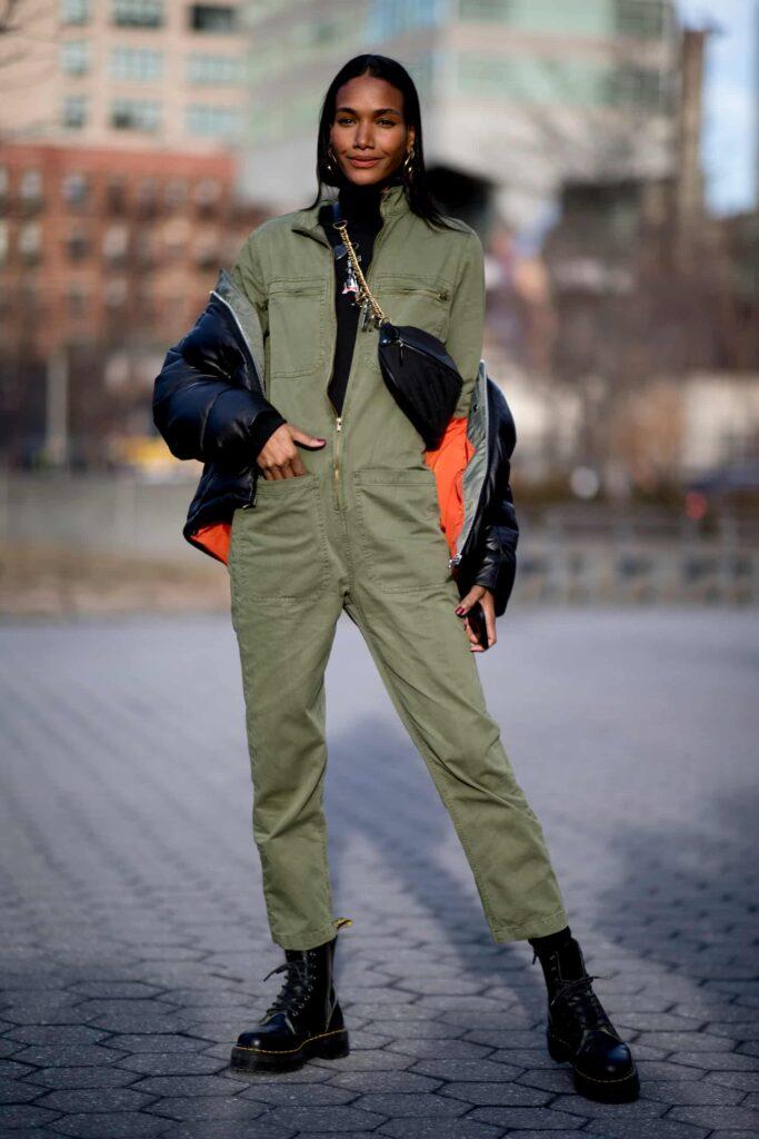 Look inspiração com a bota feminina de cadarço.