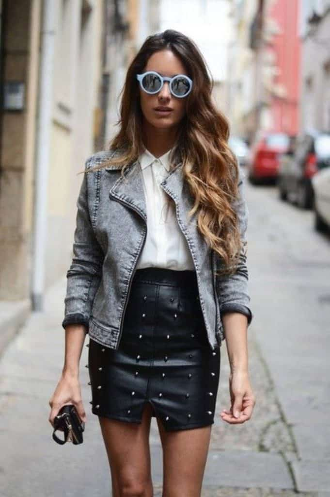 Look inspiração com a jaqueta jeans lavagem ácida.