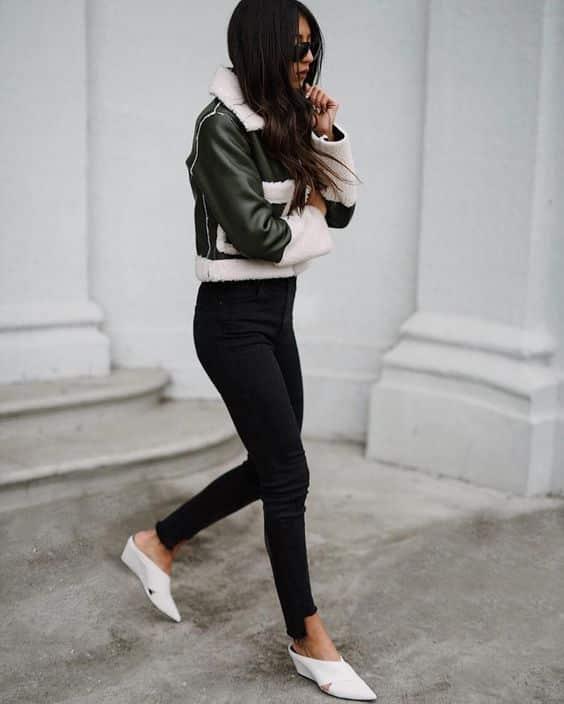 Look inspiração com o sapato abotinado.