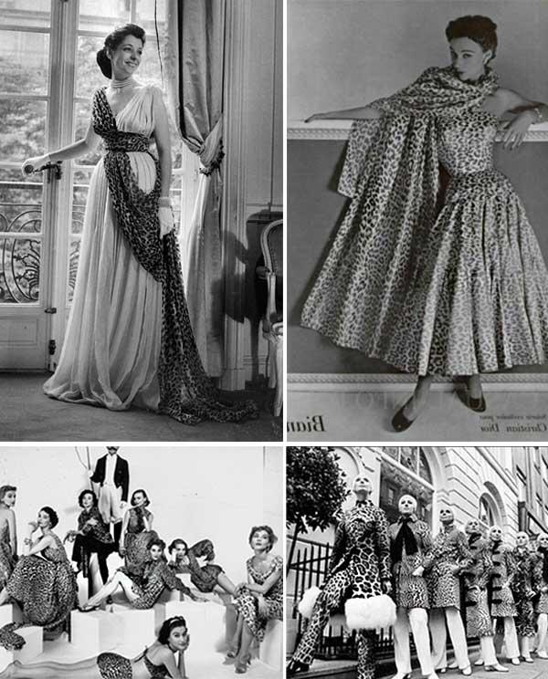 Imagens de looks inspirações com vestido animal print.