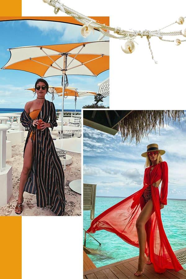 Imagem inspiração com looks com saída de praia.
